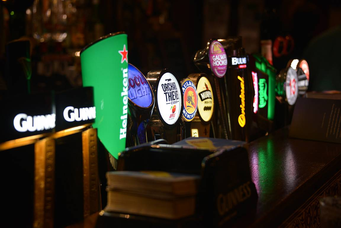 Hanavalikoima vaikuttaa pubissa viihtyvyyteen.