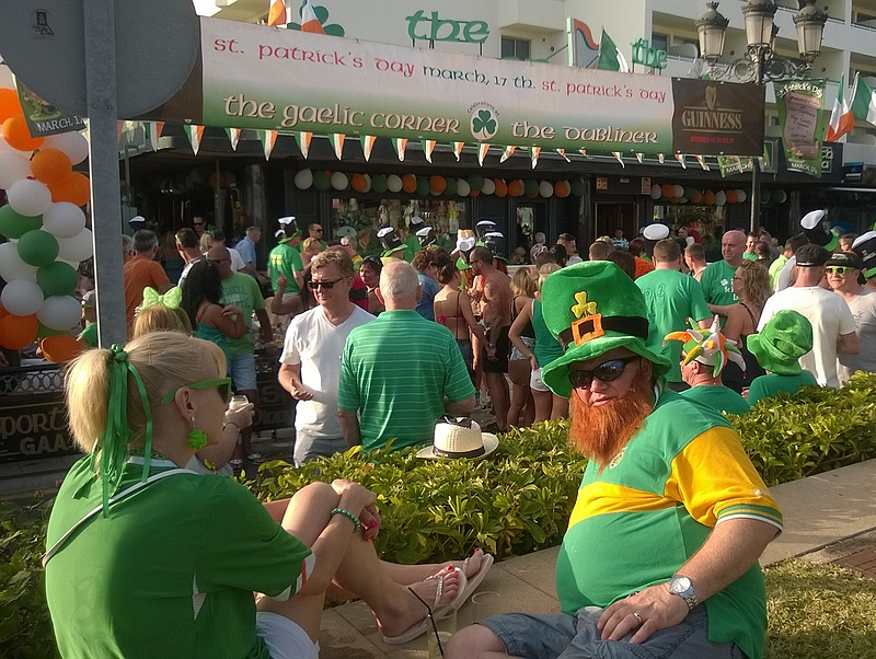 St. Patrick's Dayn viettoa Teneriffalla.