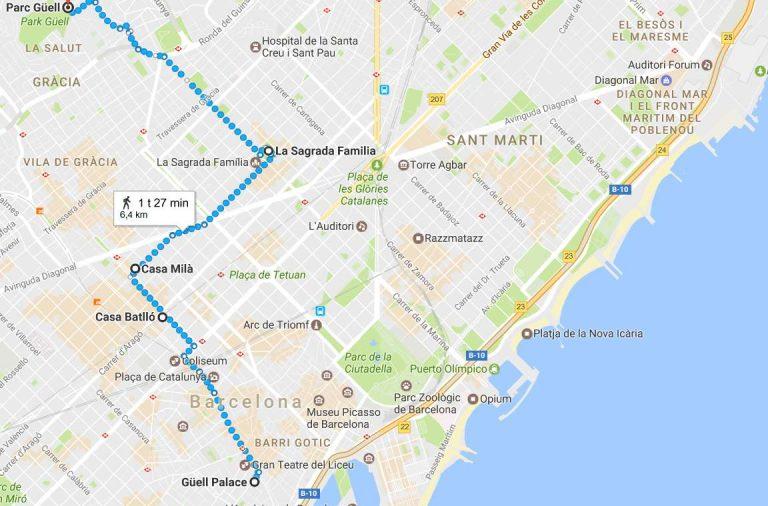 Gaudin Merkittavimmat Rakennukset Barcelonassa Napsauta Kuvaa