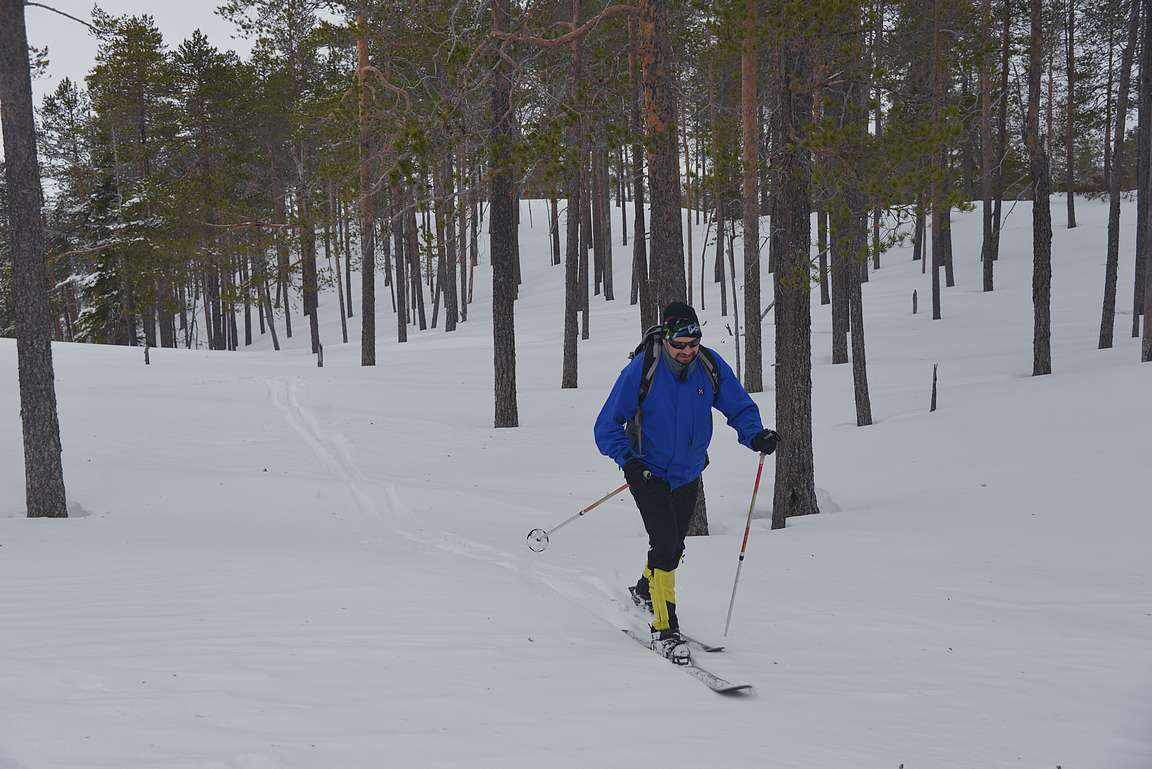 Karvapohjasuksilla hiihtäminen on elämys.