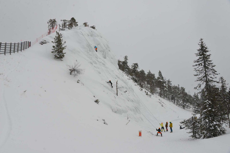 Jääkiipeily Rukalla - itsensä voittamista parhaillaan