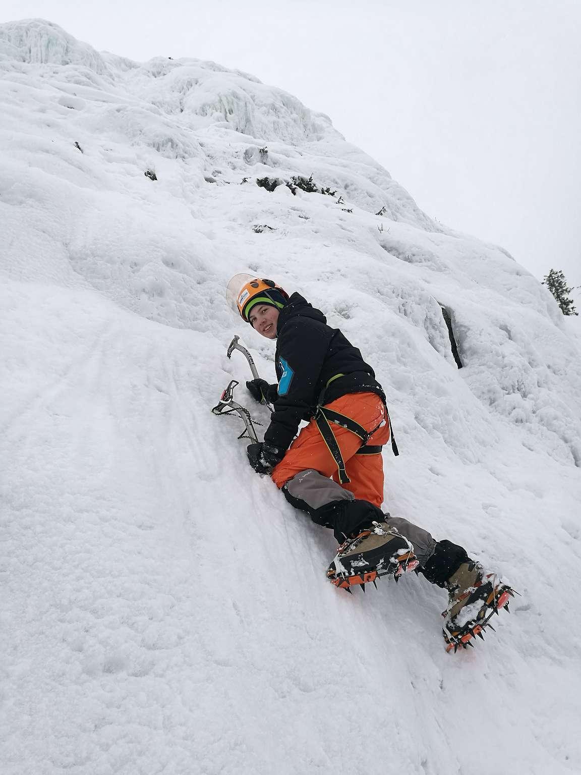 Jääkiipeily Rukalla oli aktiiviloman kohokohtia!