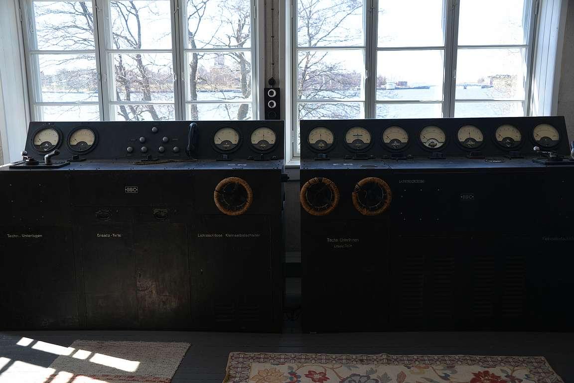 Demagnetisointi laitteistoa on nähtävillä pienessä museossa.