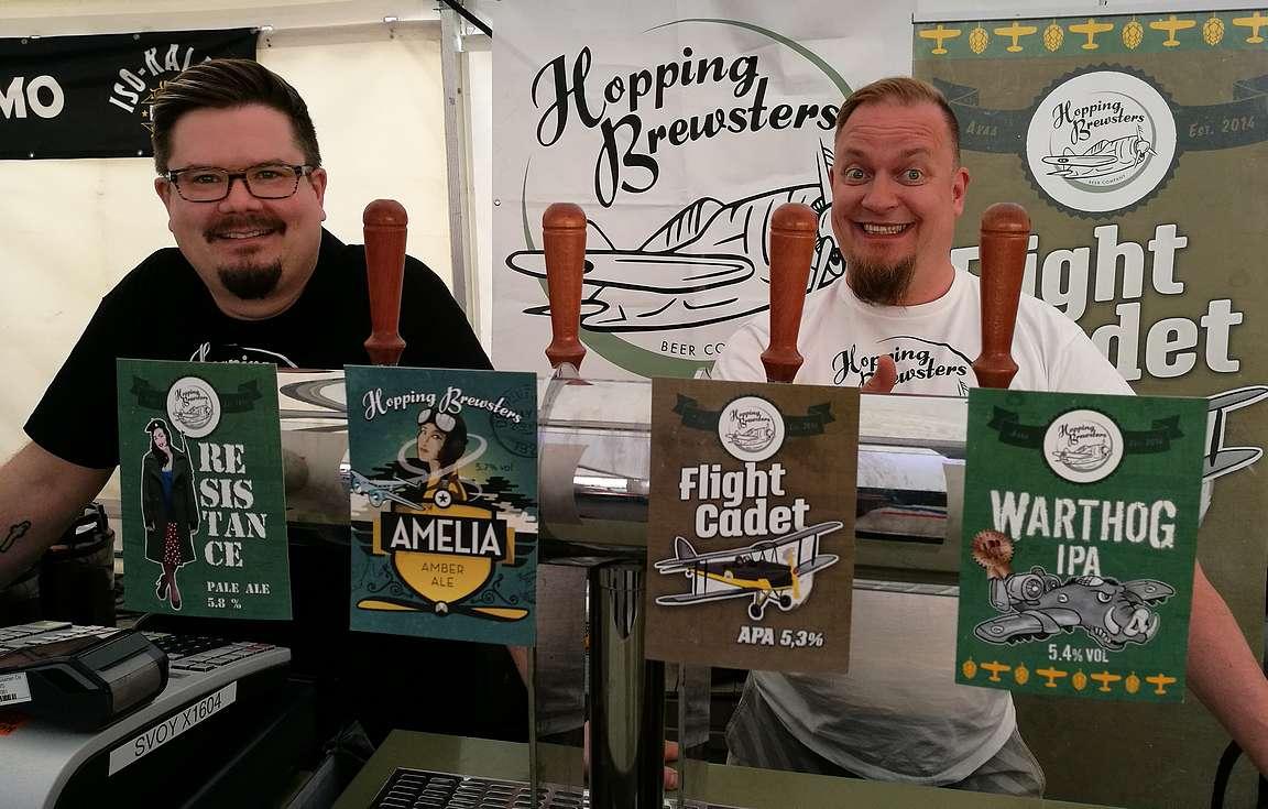 Akaalaisen Hopping Brewstersin oluet on takuuvarmaa laatutavaraa.