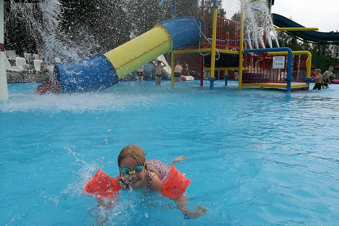 Vesipuiston on Visulahden suosituin alue.