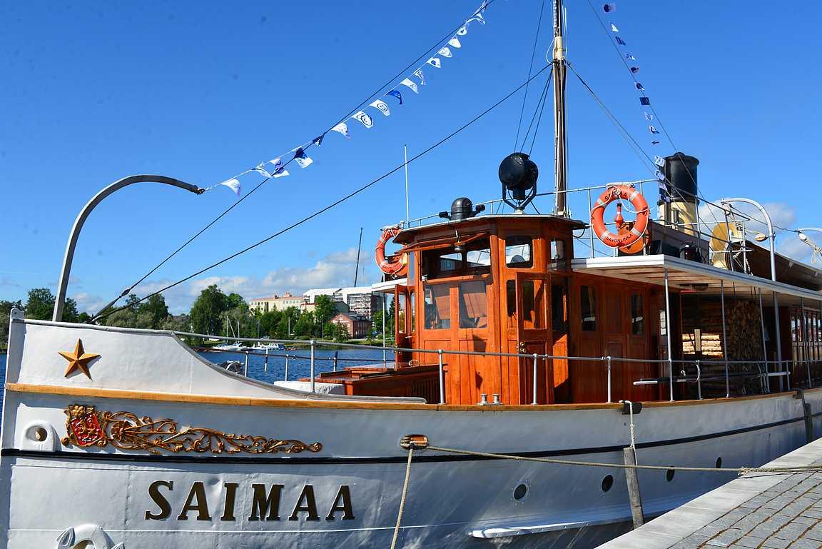 S/S Saimaa on liikenneviraston oma höyrylaiva ja sillä Venäjän presidentti Vladimir Putiniakin kierrätetään Saimaan kauniissa maisemissa.