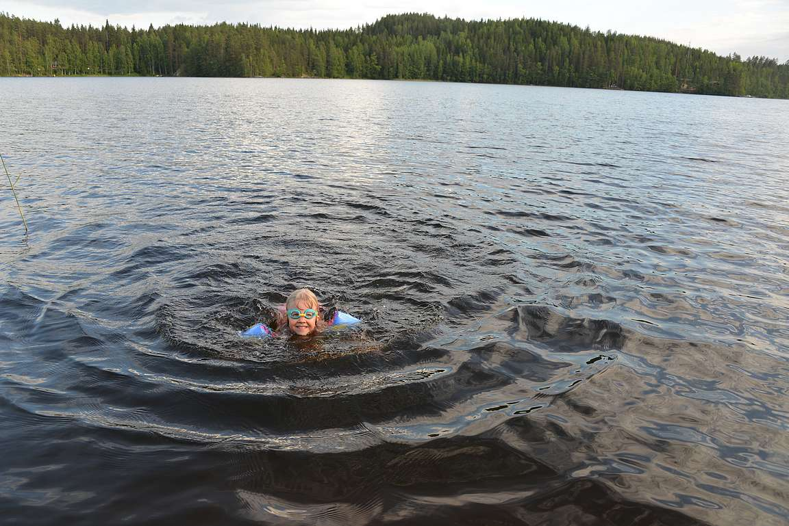 Vesi oli erittäin kylmää eli varsin virkistävää...