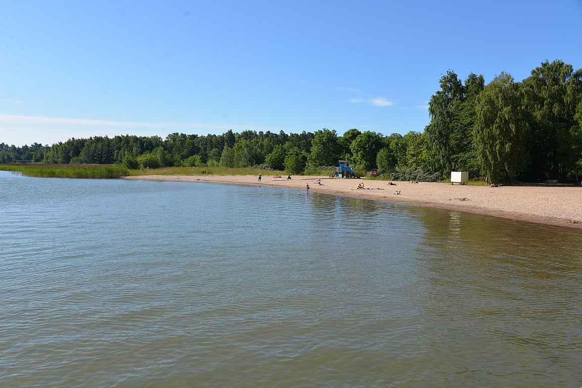 Lilla Holmenin uimaranta.
