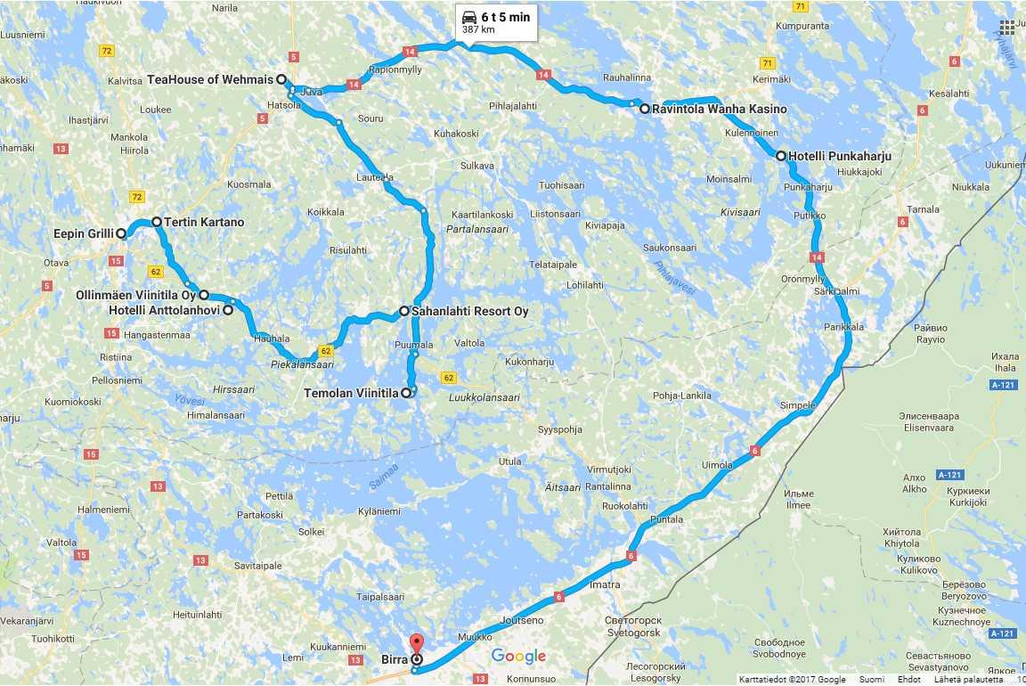Makumatka Saimaalla (napsauta kuvaa avataksesi Google Mapsin).