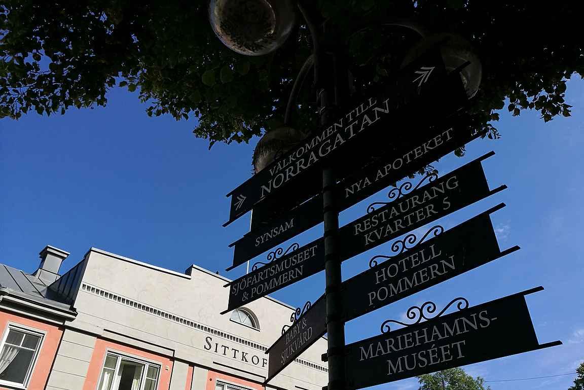 Maarianhaminassa kaikki on kävelymatkan päässä Torggatanilta.