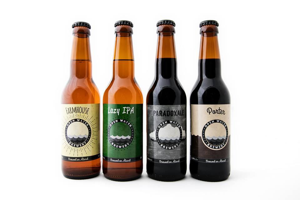 Marraskuussa 2016 perustetun Open Water Breweryn ensimmäiset neljä olutta.