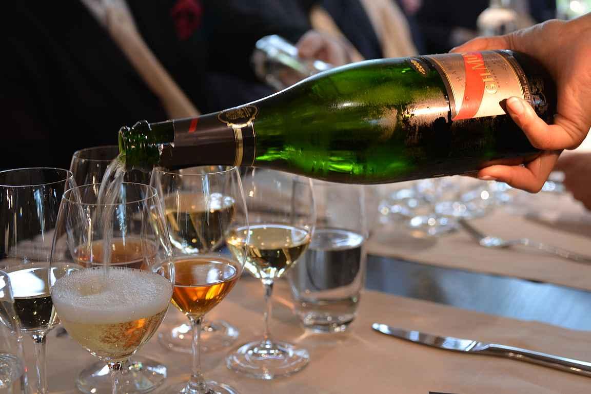 Joris Bijdendijkin langustiini osterivaahdolla nautittiin G.H. Mumm Le Millésimé Champagne Brut 2008 -samppanjan kera.