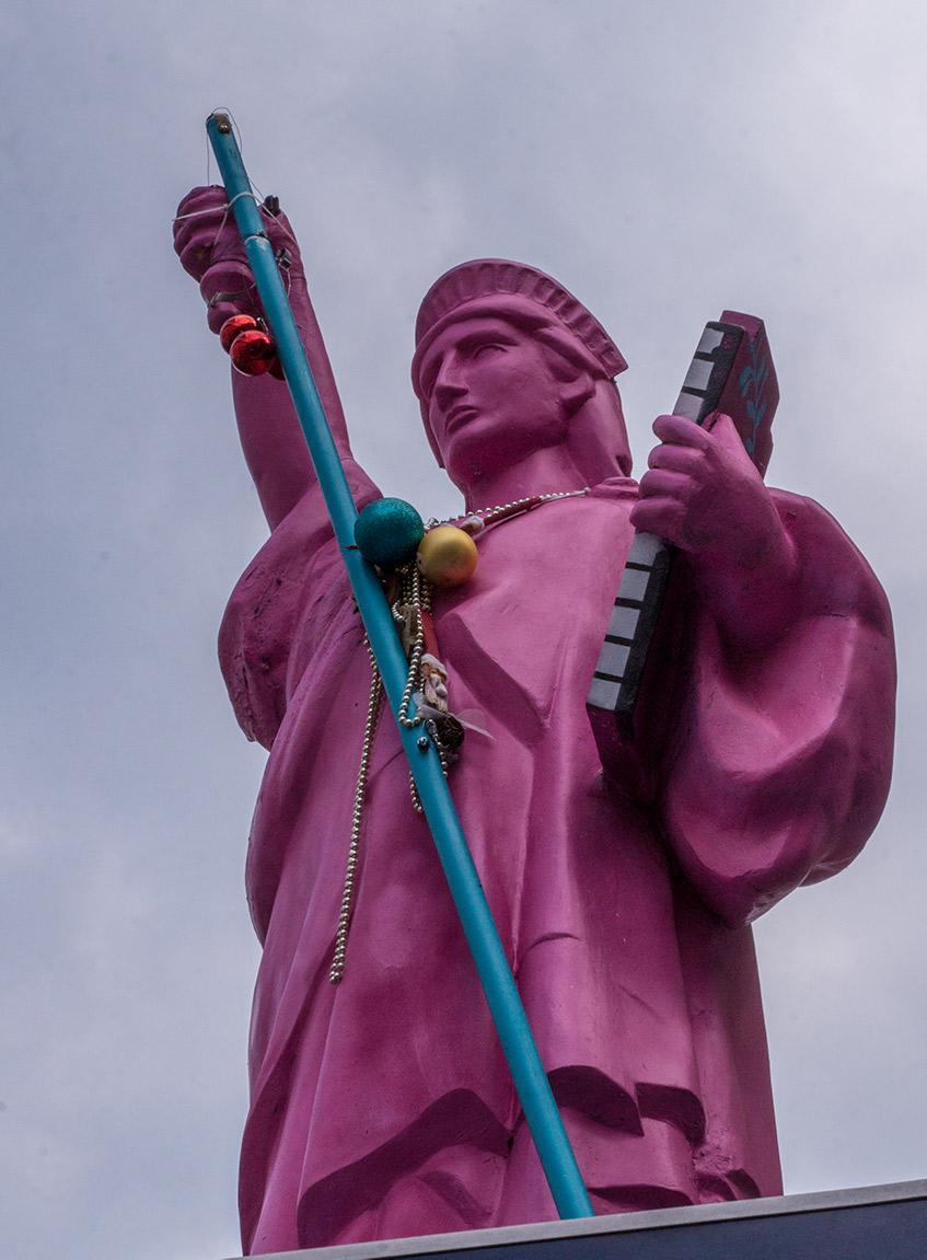 Franfurt an der Orderissa on pieniä patsaista lähes kaikkialla.