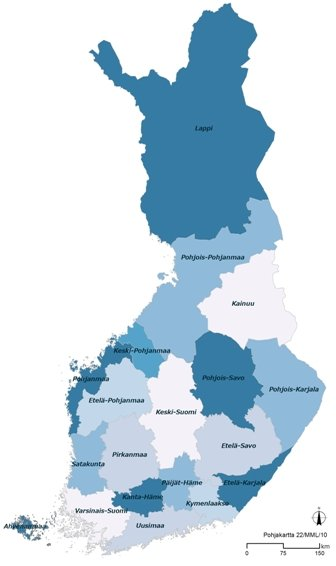 Suomen maakunnat 2011