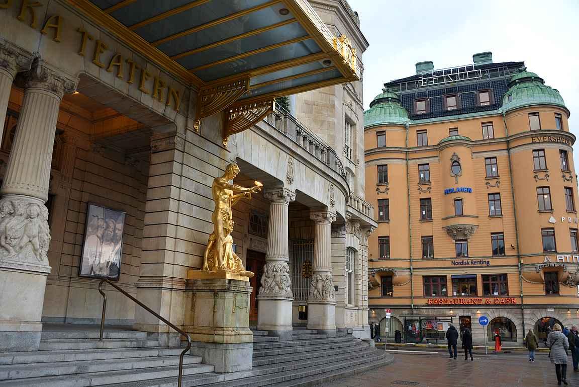 Tukholman arkkitehtuurissa riittää katseltavaa pitkin kaupunkia.