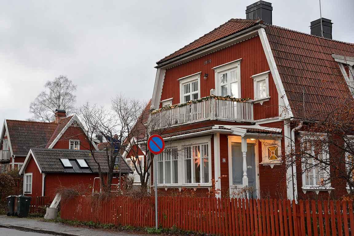 Gamla Enskede - malliesimerkki ruotsalaisesta puutaloidylistä.