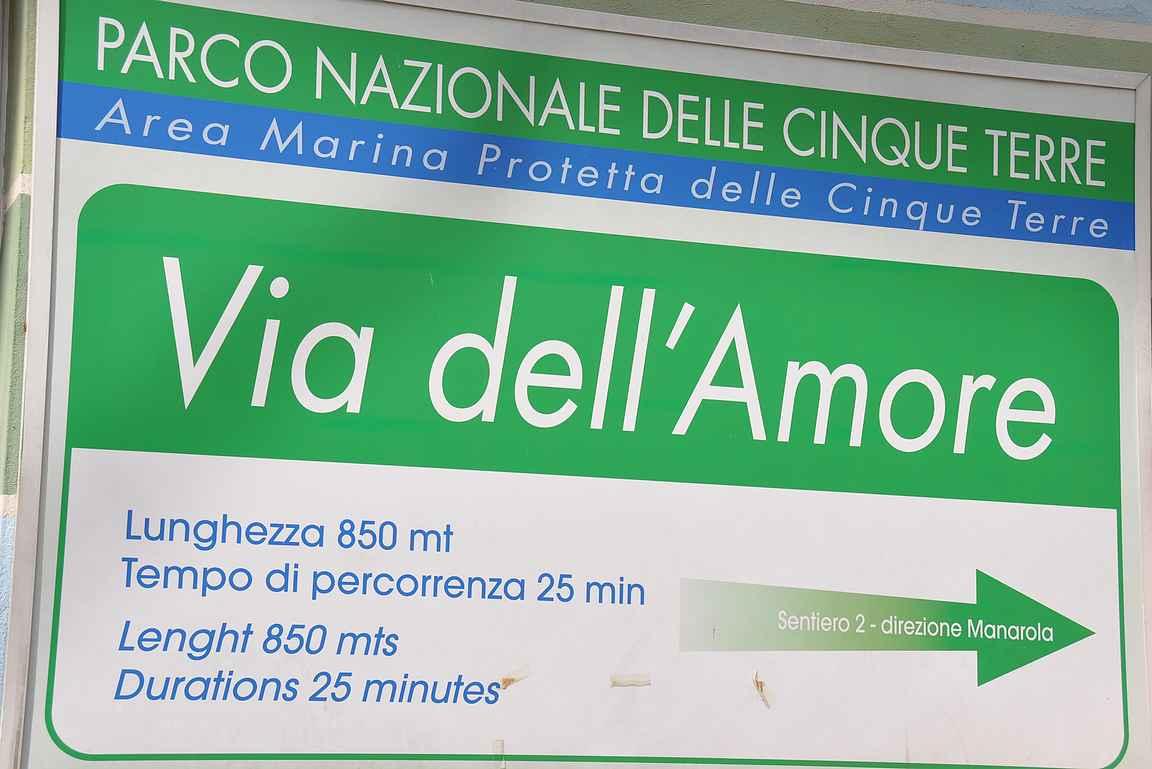 "Via dell'Amore - ylivoimaisesti suosituin Cinque Terren ""patikointireitti""."