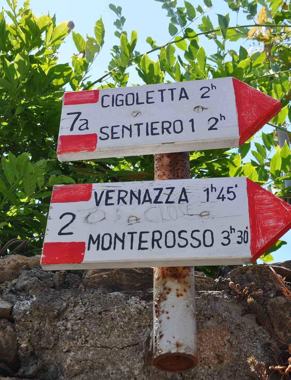 Kohti Vernazzaa ja lopullista päämäärä Monterossoa.