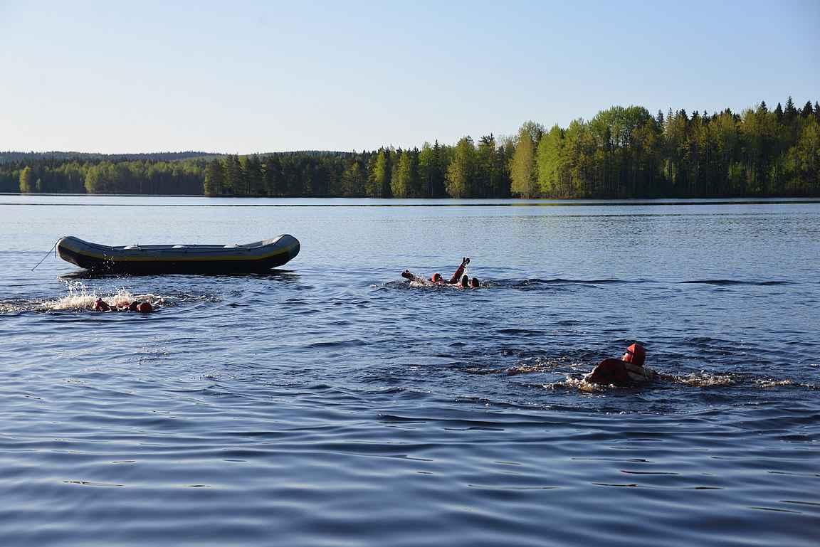 Huskylle kaloja - Amazing Race kilpailua parhaimmillaan toisen päivän aamuna.