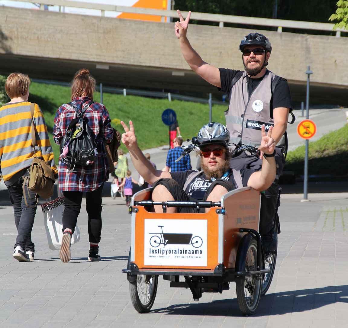 Jyväskylä on parasta pyöräillen. copyright Hanna Hauvala, JAMK
