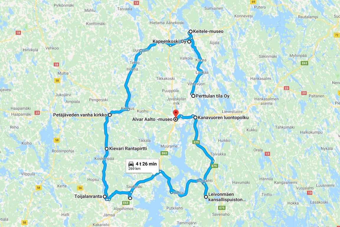 Keski-Suomen parhaat palat (napsauta kartta auki Google Mapsiin)
