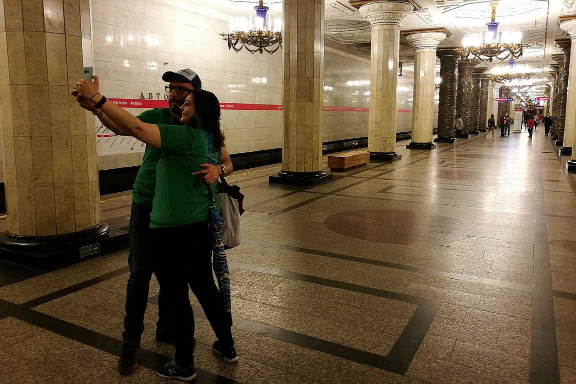 Avtovo - Pietarin kuvatuin metroasema.