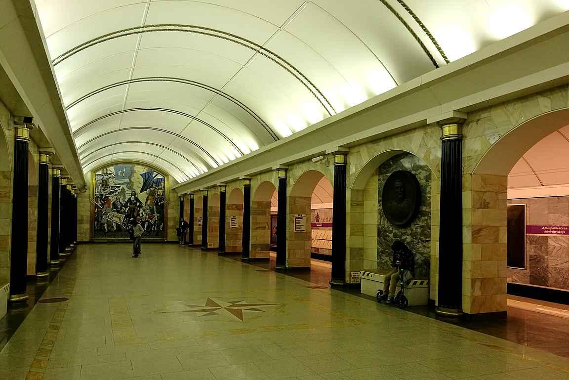 Admiralteyskaya - Pietarin syvimmällä oleva metroasema.