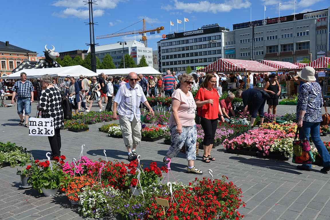Torielämä kuuluu Kuopion kaupunkikuvaan.