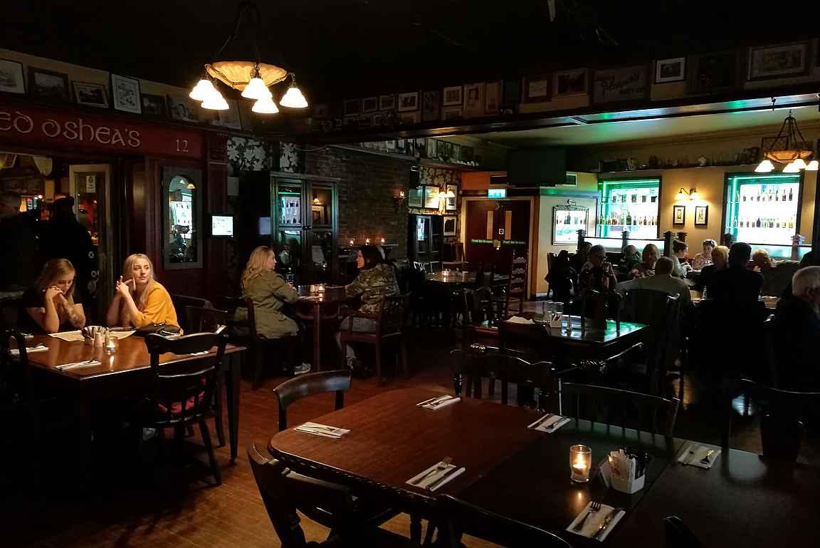 O'Shea's on paikallisten suosiossa lounasaikaan.