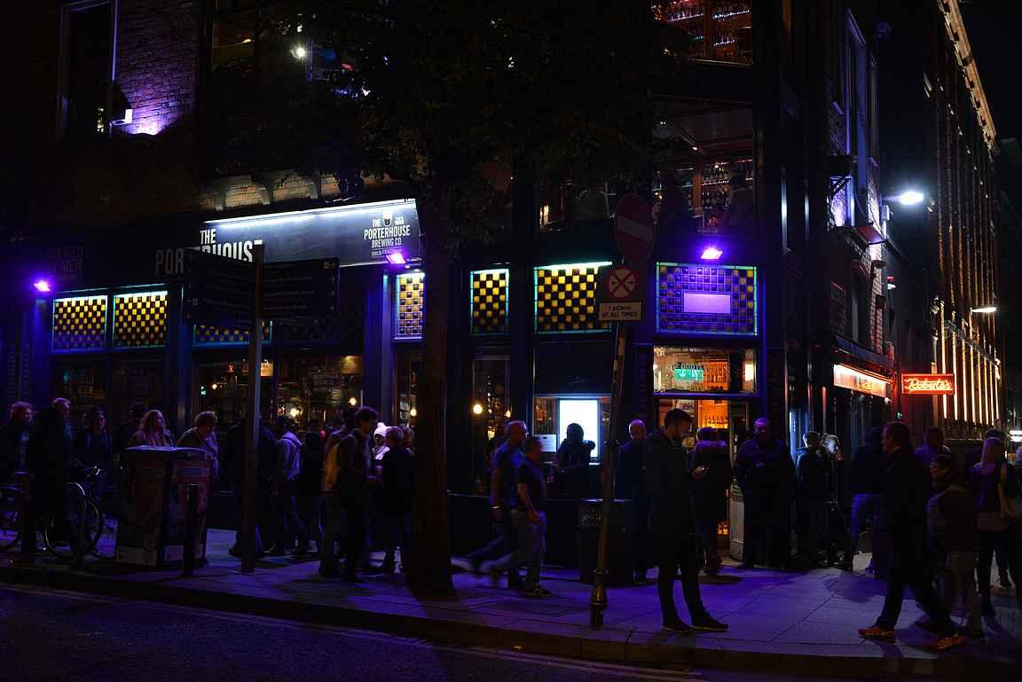 Porterhouse Temple Bar on kaupungin suosituimpia pubeja.