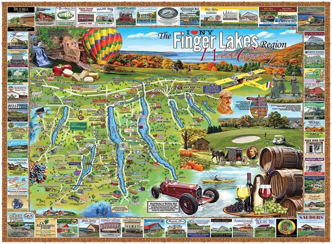 Finger Lakesin alue on helposti lähestyttävissä New Yorkista, Bostonista ja Torontosta käsin.