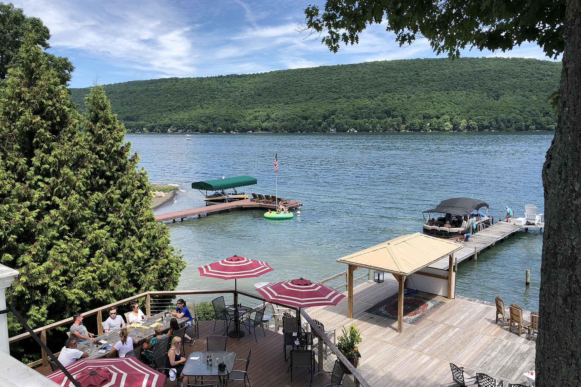 Keuka Lake tarjoaa leppoisia lomanviettopaikkoja.