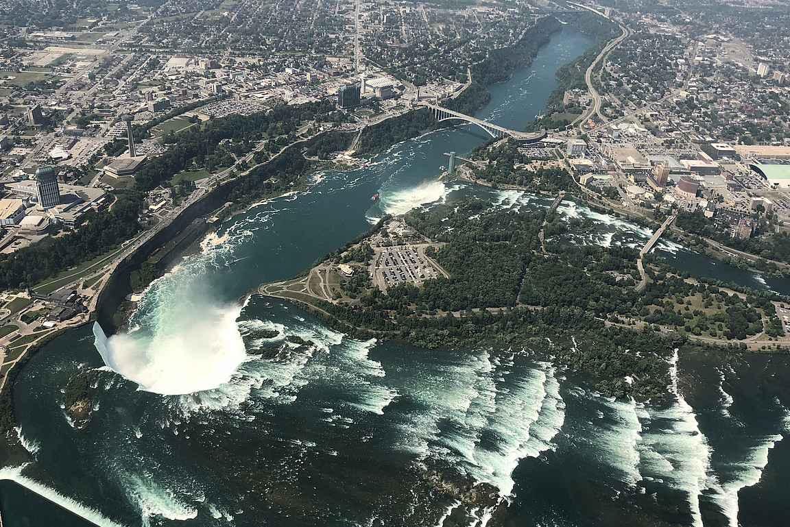 Niagaran putoukset ovat upea näky myös helikopterista katsottuna.