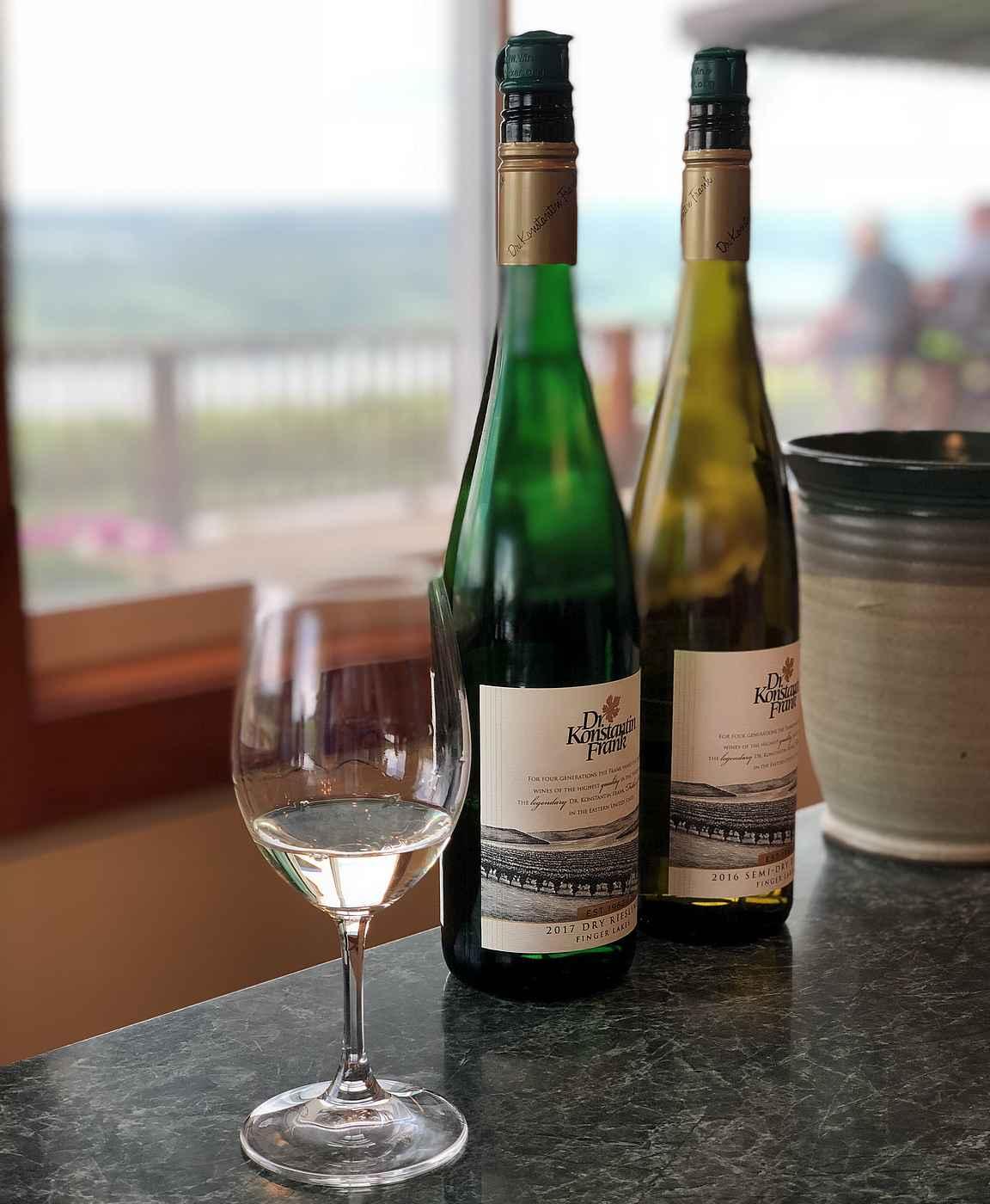 Dr. Konstantin Frankin valkoviinit ovat Finger Lakesin viinibuumin alullepanijat.