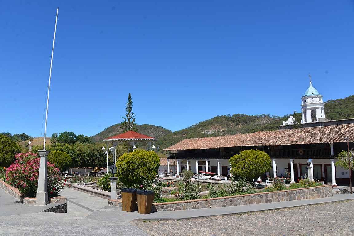 San Sebastián del Oasten uinuva keskusaukio.