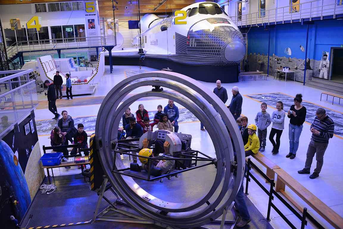 Euro Space Center on pakollinen vierailukohde avaruudesta kiinnostuneille.