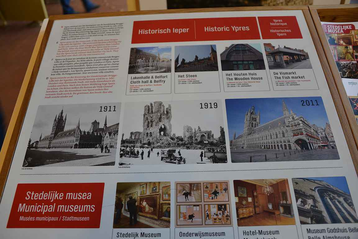 Ypresin museoissa saa erinomaisen kattauksen ensimmäisen maailmansodan tapahtumista.