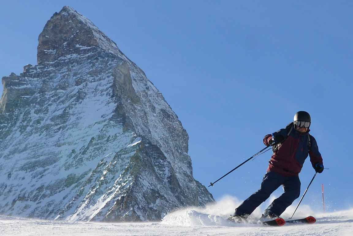 Cervinian ja Zermattin rinteet tarjosivat täydelliset olosuhteet lasketteluvarusteiden testaamiselle.
