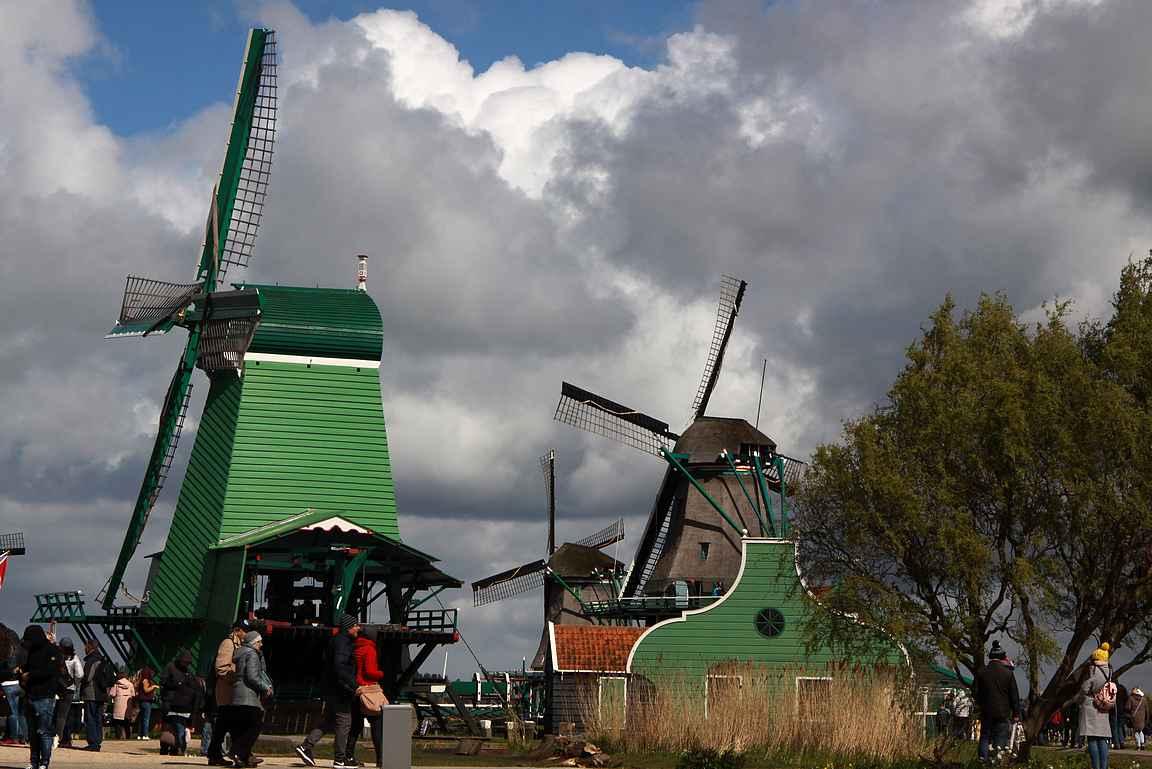 Kaikkiaan alueelta löytää yhteensä kahdeksan tuulimyllyä tutkimuskohteeksi.