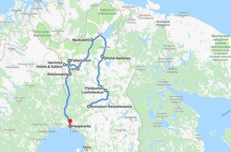Lapin Kierros Kesalla 2018 Klikkaa Kartta Auki Google Mapsiin