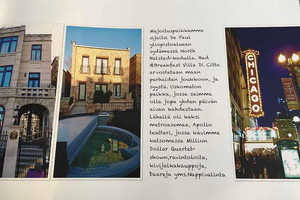 Chicagon reissun muistot perinteisessä valokuva-albumissa.
