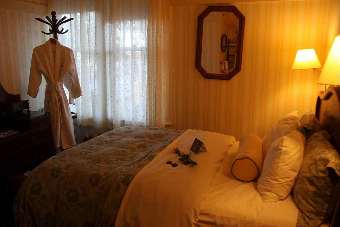 Gosby House Inn - majapaikan pienin huone kelpasi mainiosti.