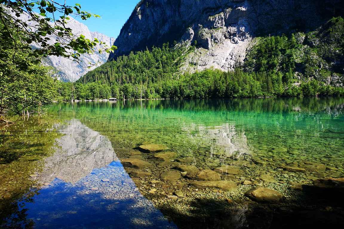 Rauhallisia taukopaikkojakin Obersee-järveltä löytyy.