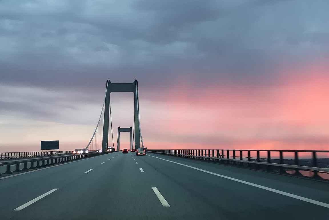 Vähä-Beltin Uusi silta matkalla takaisin Legolandiin.