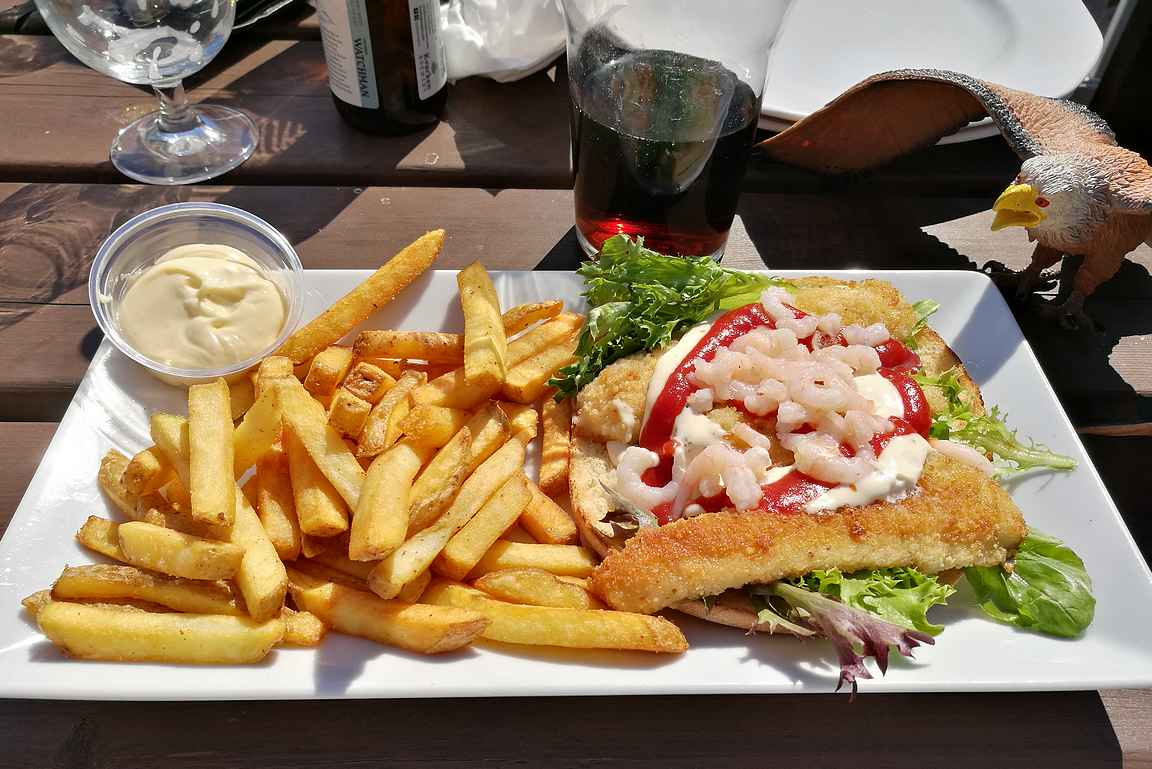 Restaurant Arkenin merellinen hampurilaisateria.