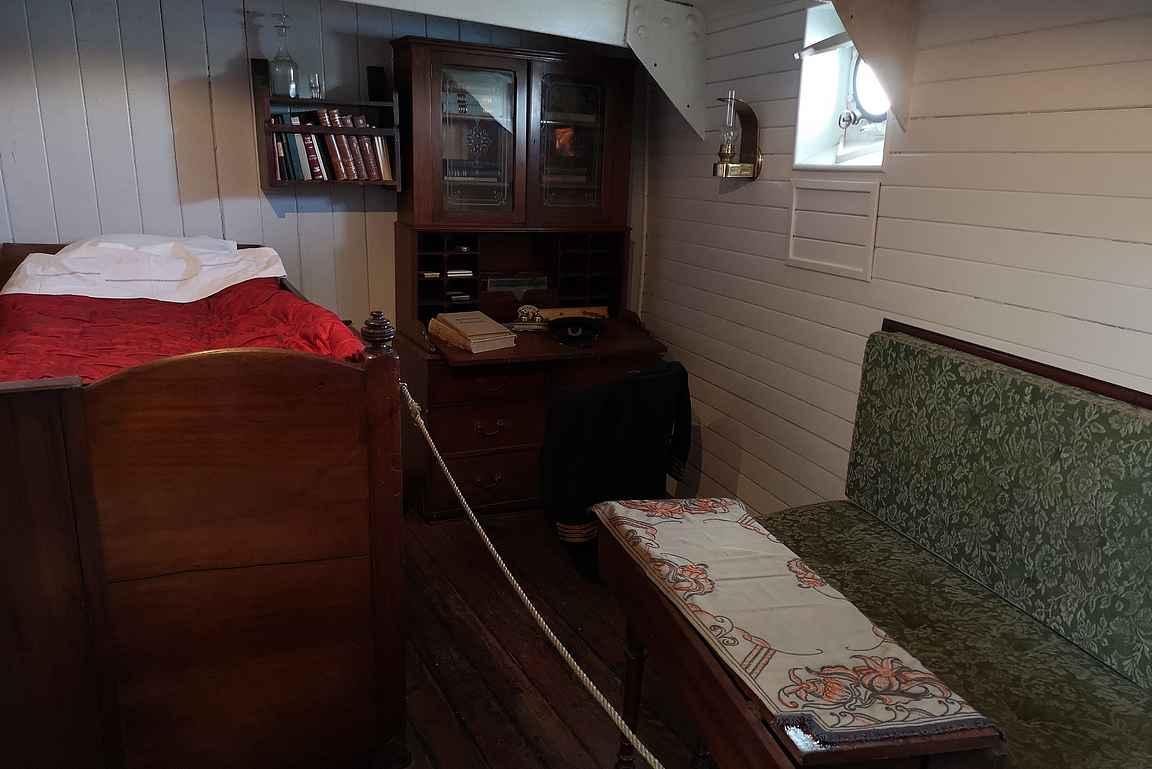Pommernin kapteenin hytti.
