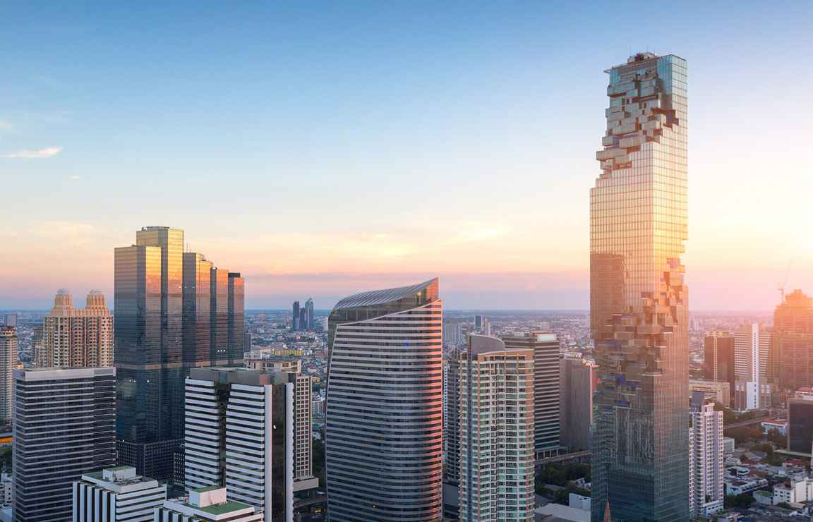 Bangkokin silhuetti copyright King Power Mahanakhon