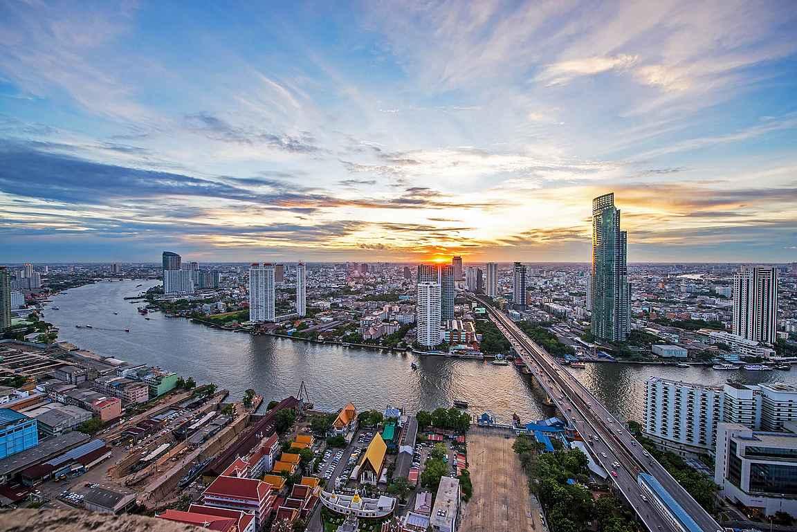 Chao Phraya -joki copyright mahanakhon tower