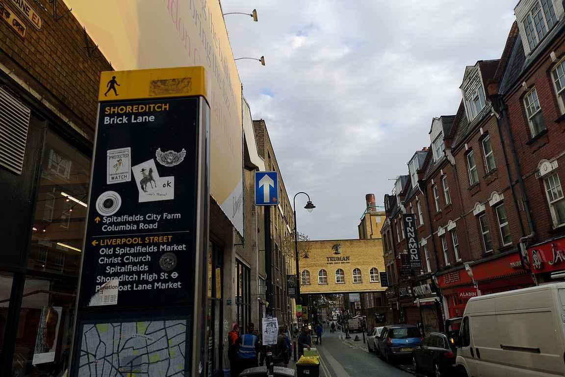 Brick Lane on Itä-Lontoon tunnetuimpia katuja.