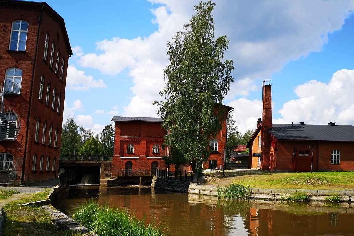Forssan kansallinen kaupunkipuisto alkaa Kehräämön alueelta.